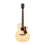 Guild OM-240CE, Mid-Size Orchestra Acoustic Guitar, Natural