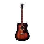 Guild D-20, Dreadnought Acoustic Elecric Guitar, Vintage Sunburst