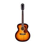 Guild F-2512E Deluxe Acoustic Guitar, Antique Burst