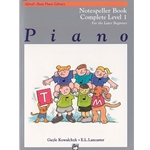 Alfred's Basic Piano Library: Notespeller Book Complete Level 1