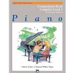 Alfred's Basic Piano Library: Composition Book Complete Level 1