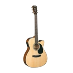 Blue Ridge BR-43CE Contemporary Series Cutaway Acoustic-Electric 000 Guitar with Case