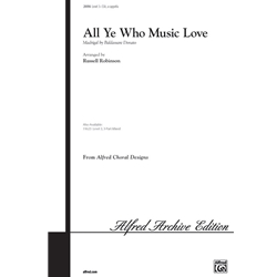 All Ye Who Music Love [Choir] 3-Part Mix